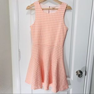 Pixley sleeveless white and orange dress